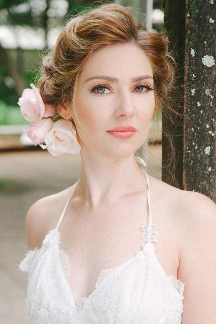 Свадебный макияж для зеленоглазой невесты