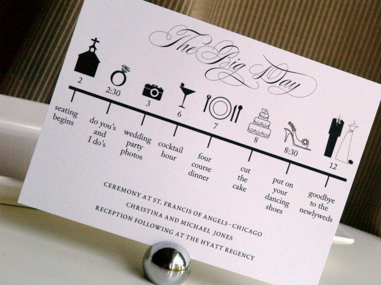 Подробный план свадьбы поможет ничего не забыть