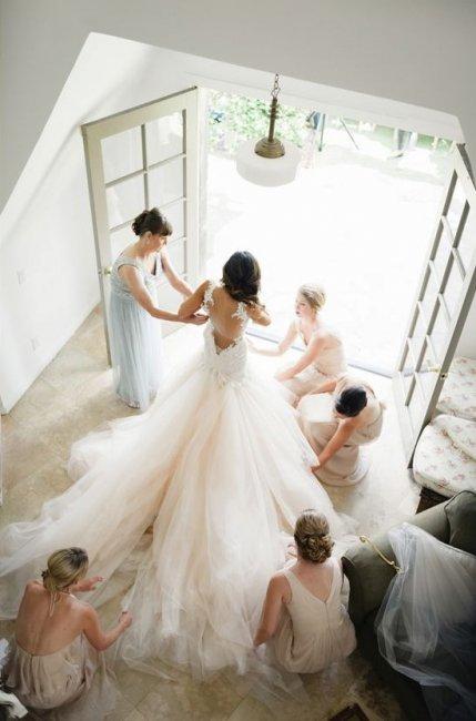 Утренние сборы невесты в компании подруг