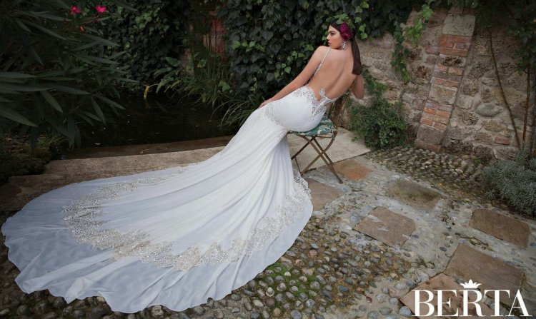 Свадебное платье со шлейфом