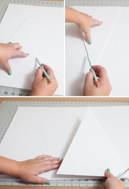 Вырезаем по шесть одинаковых треугольников и трапеций