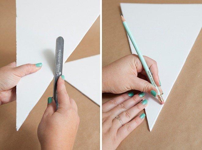 Спиливаем края деталей и стираем карандаш