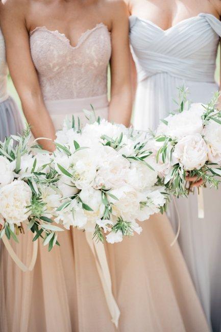 Белый свадебный букет мастер-класс