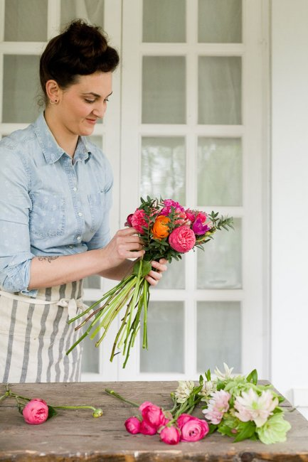 букет невесты из живых цветов мастер-класс