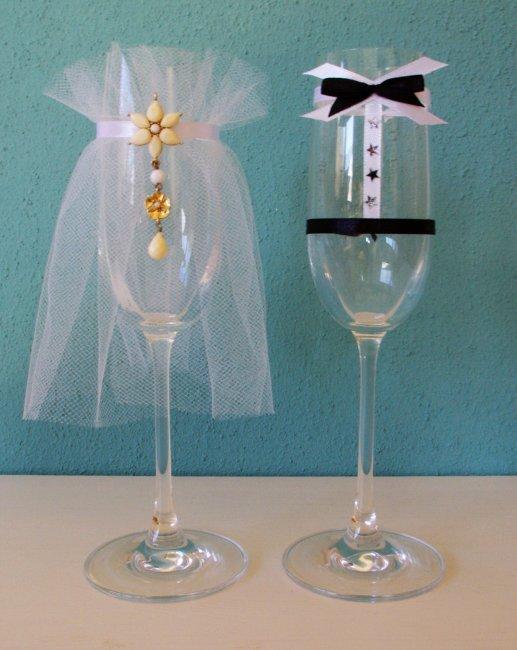 Свадебные бокалы своими руками фото пошагово жених невеста 32