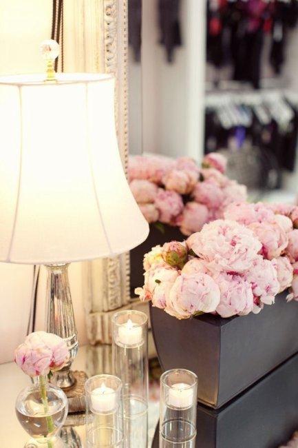 Украшение комнаты невесты цветами