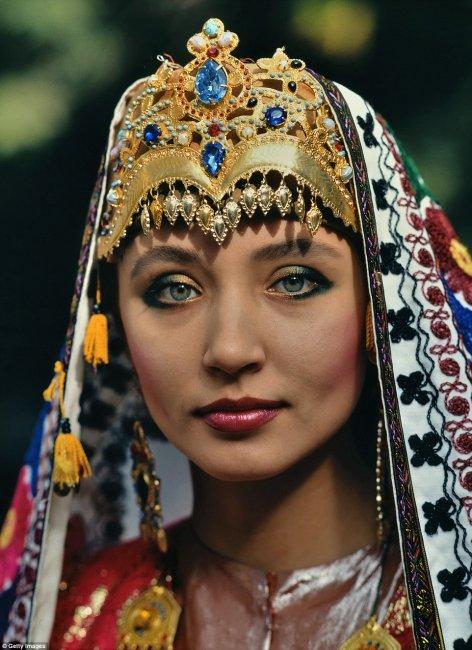 Головной убор узбекской невесты