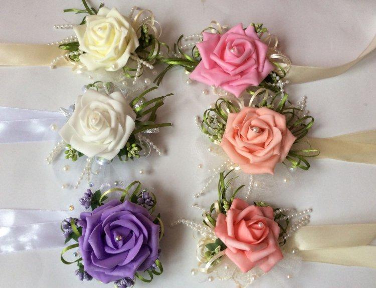Бутоньерки для подружек невесты своими руками мастер класс 36