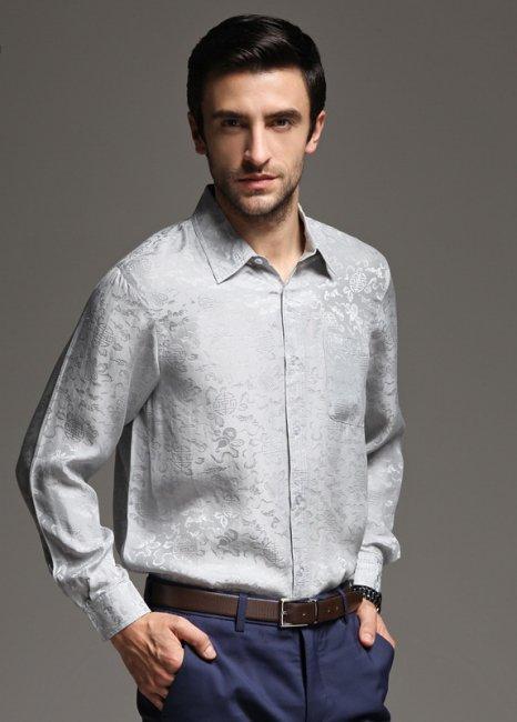 Шелковая рубашка для супруга