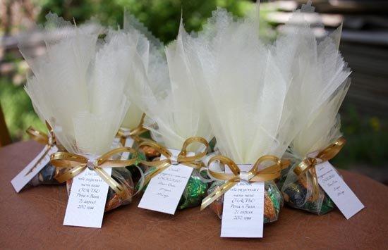 Как украсить конфеты своими руками на свадьбу