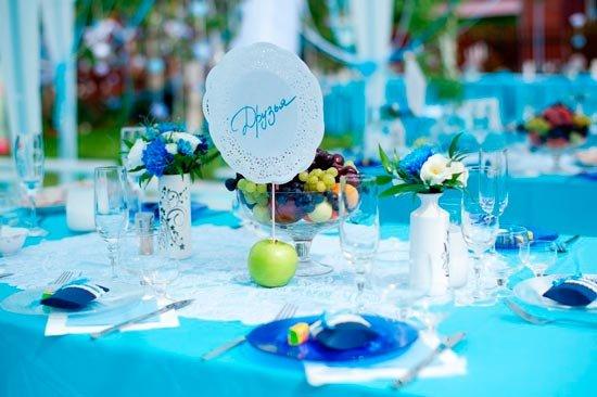 Тарелки для украшения свадебного стола