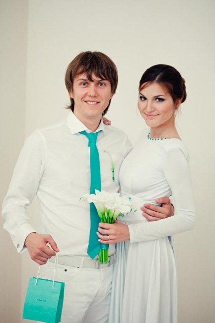 Бирюзовый стиль жениха