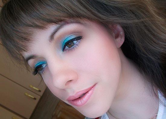 Бирюзовый свадебный макияж