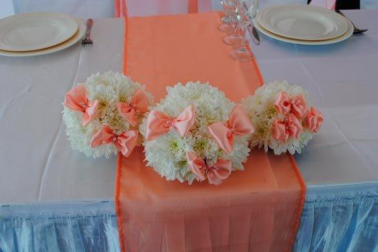 Цветочные композиции для оформления столов