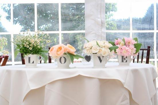 Цветы для оформления свадебных столов