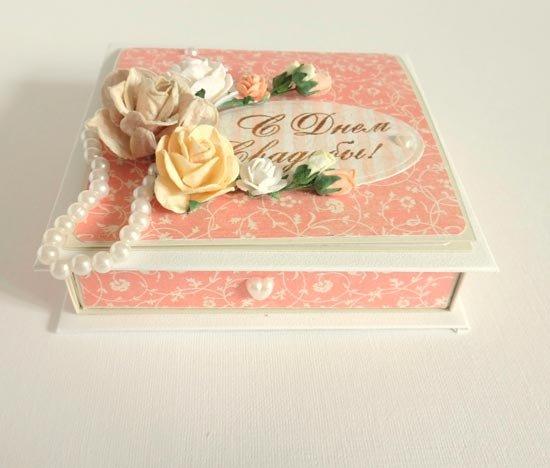 Декоративная свадебная коробочка