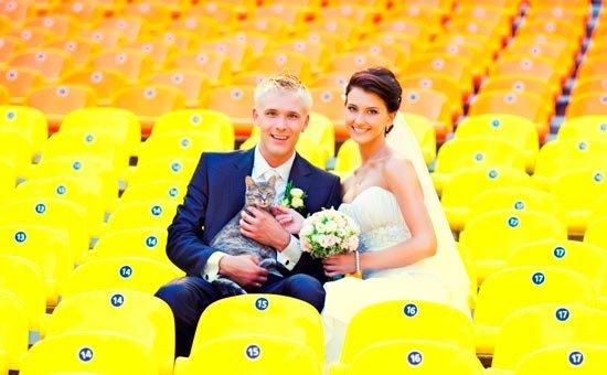 Яркое настроение желтой свадьбы