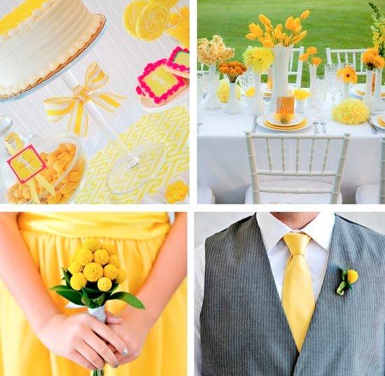 Теплый цвет желтой свадьбы