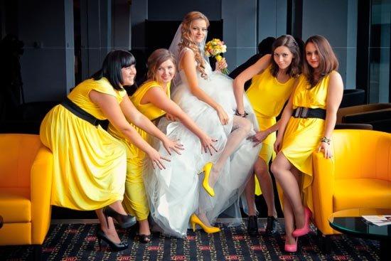 Невеста желтой свадьбы