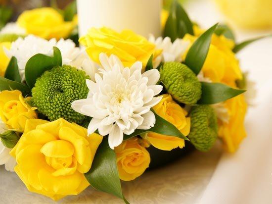Цветы желтой свадьбы