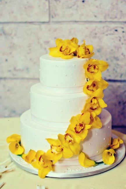Cладкий стол желтой свадьбы