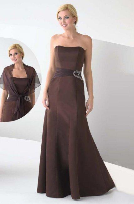 Шоколадный свадебный наряд