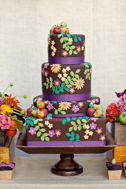 Сочетание шоколадного и других цветов