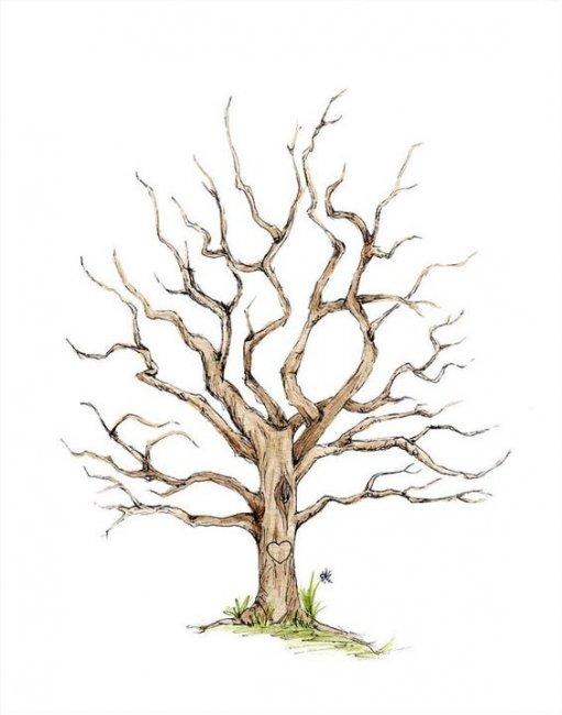 Шаблон для изготовления дерева пожеланий