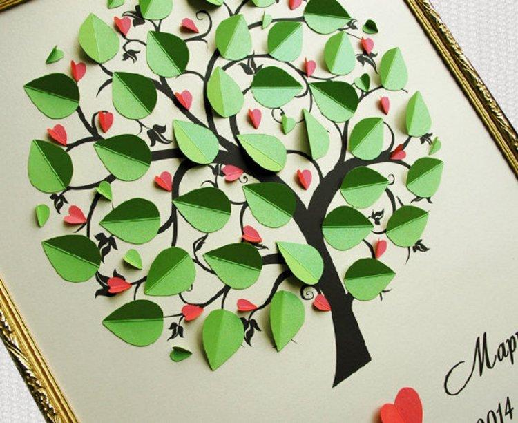 Шаблон дерева пожеланий на свадьбу