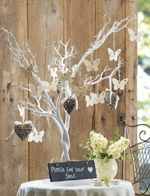 Декоративное свадебное дерево для пожеланий