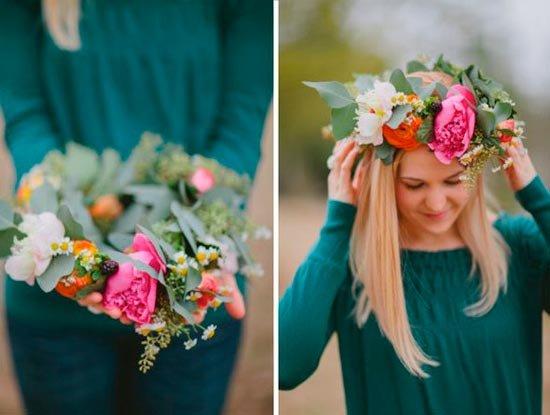 Свадебные венки из живых цветов как сделать