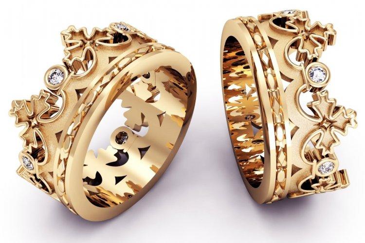Парные кольца на золотую годовщину