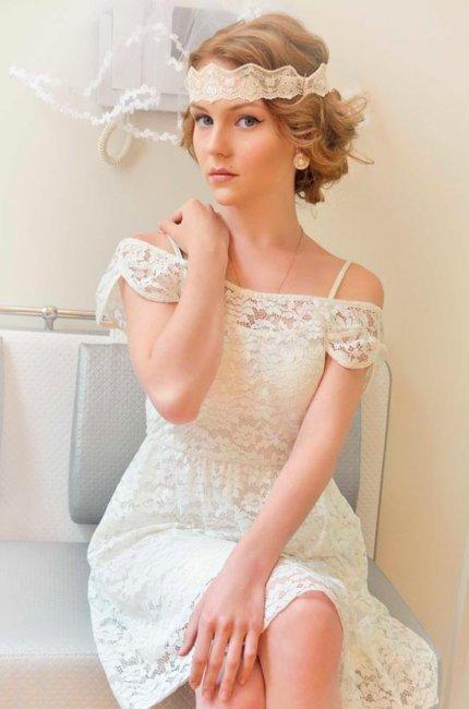 Кружевная повязка для невесты