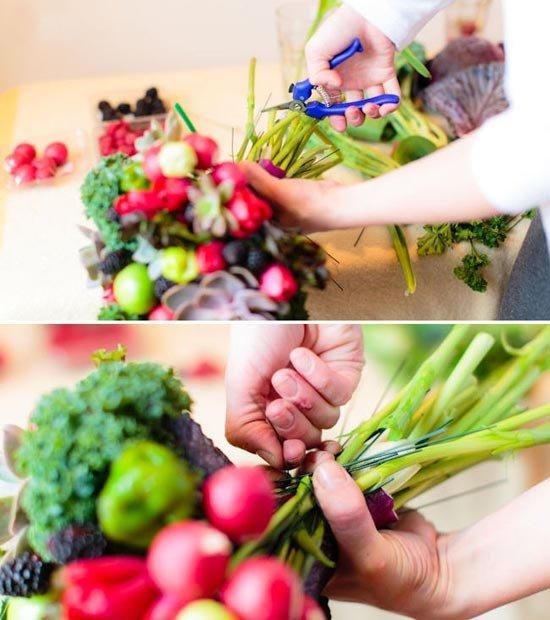 Букет из овощей и фруктов своими руками пошаговое фото для начинающих 30