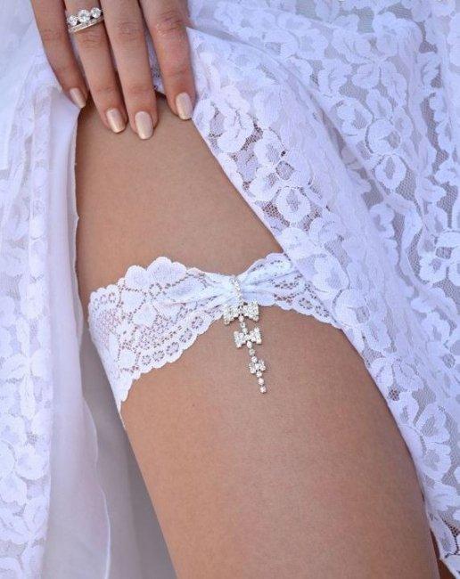 Подвязка для невесты своими руками без машинки