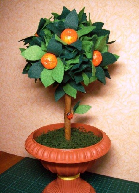 Декоративное мандариновое дерево своими руками 42