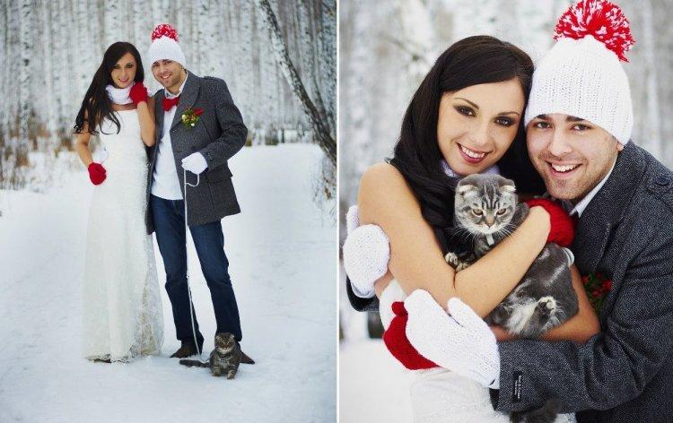 Идеи для фотосессии зимой на свадьбу