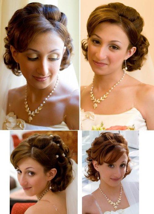 прически на средние волосы на свадьбу для мамы