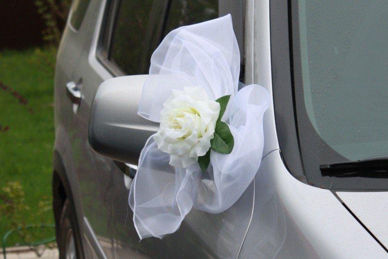 Бант на свадебную машину своими руками на зеркала