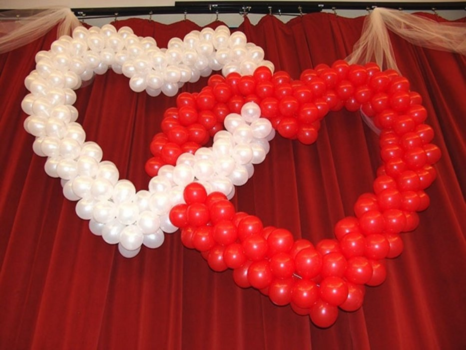 Сердце из цветов на свадьбу поздравление