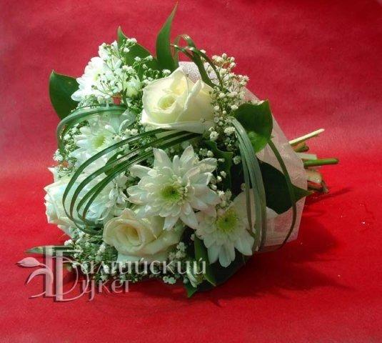 Свадебный букет из живых роз своими руками
