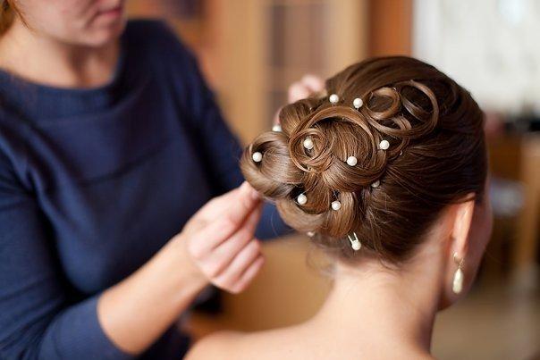 Свадебные причёски создание