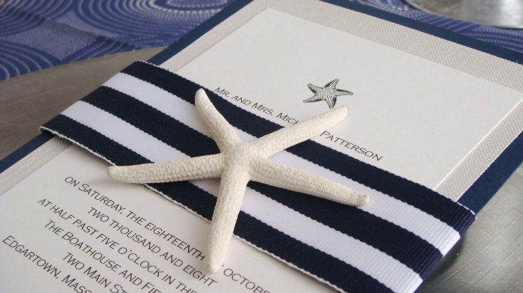 Приглашения на морскую свадьбу