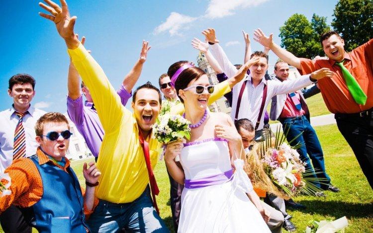 Яркая свадьба в стиле стиляги