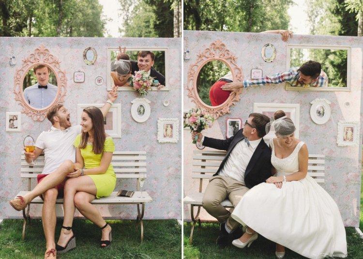 Фотозона на хипстерской свадьбе