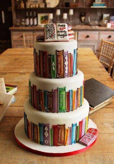 Торт для литературной свадьбы