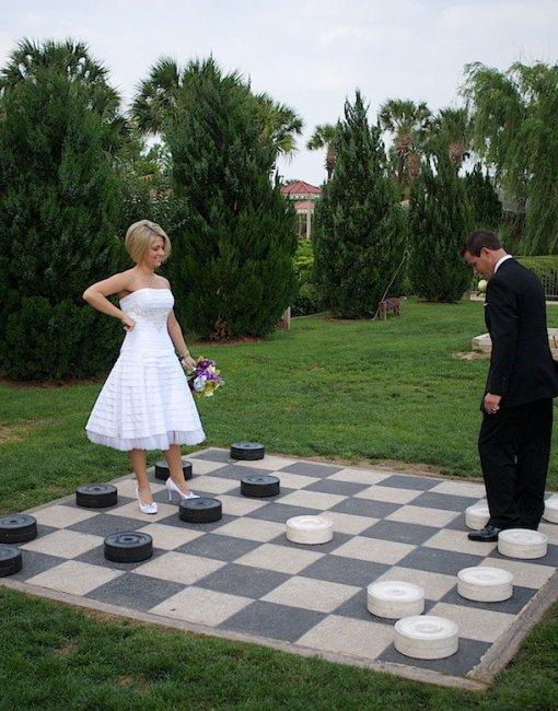 Большие шашки для свадьбы