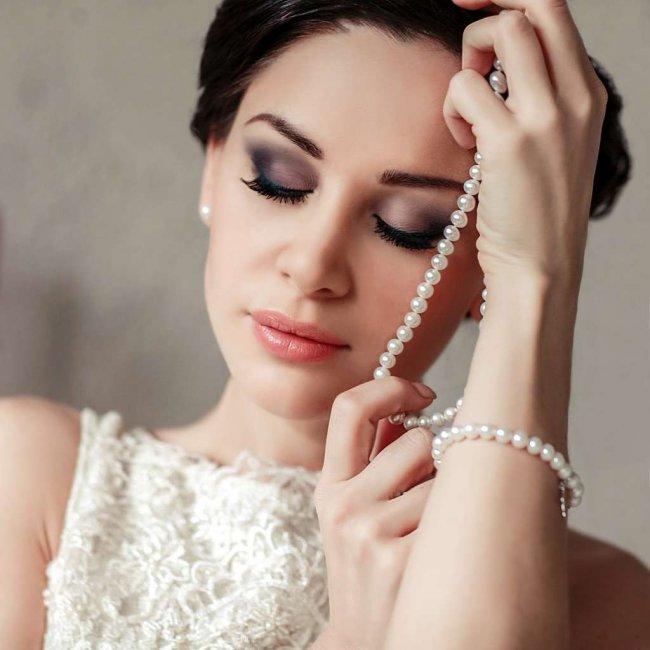 Макияж для невесты с карими глазами