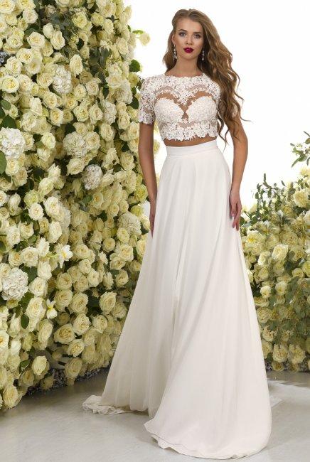 Свадебный костюм для невесты юбка и топ