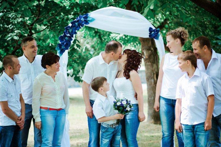 Свадьба в джинсах стиле фото